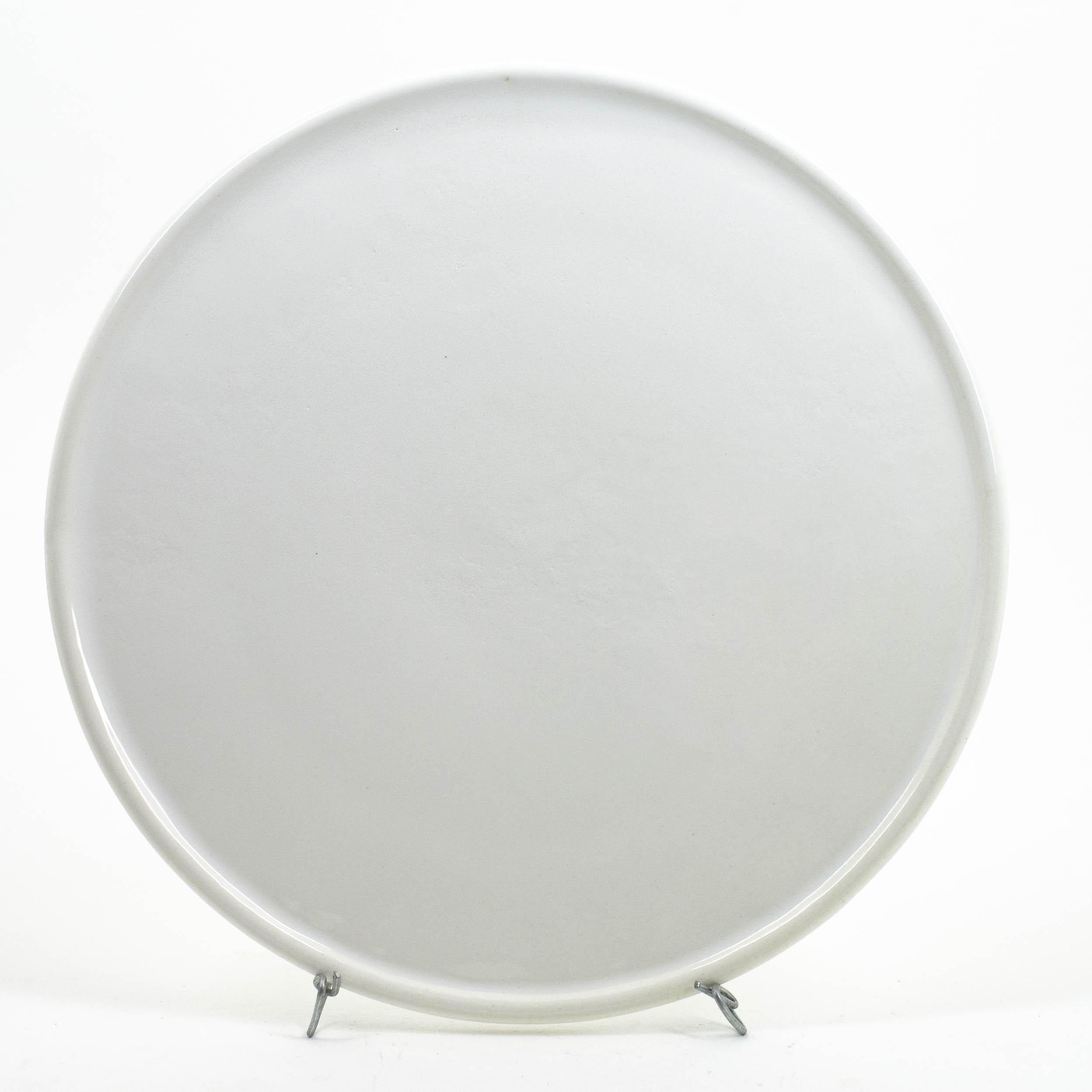assiette plateau blanc